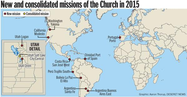 11 New Missions Announced by the Church