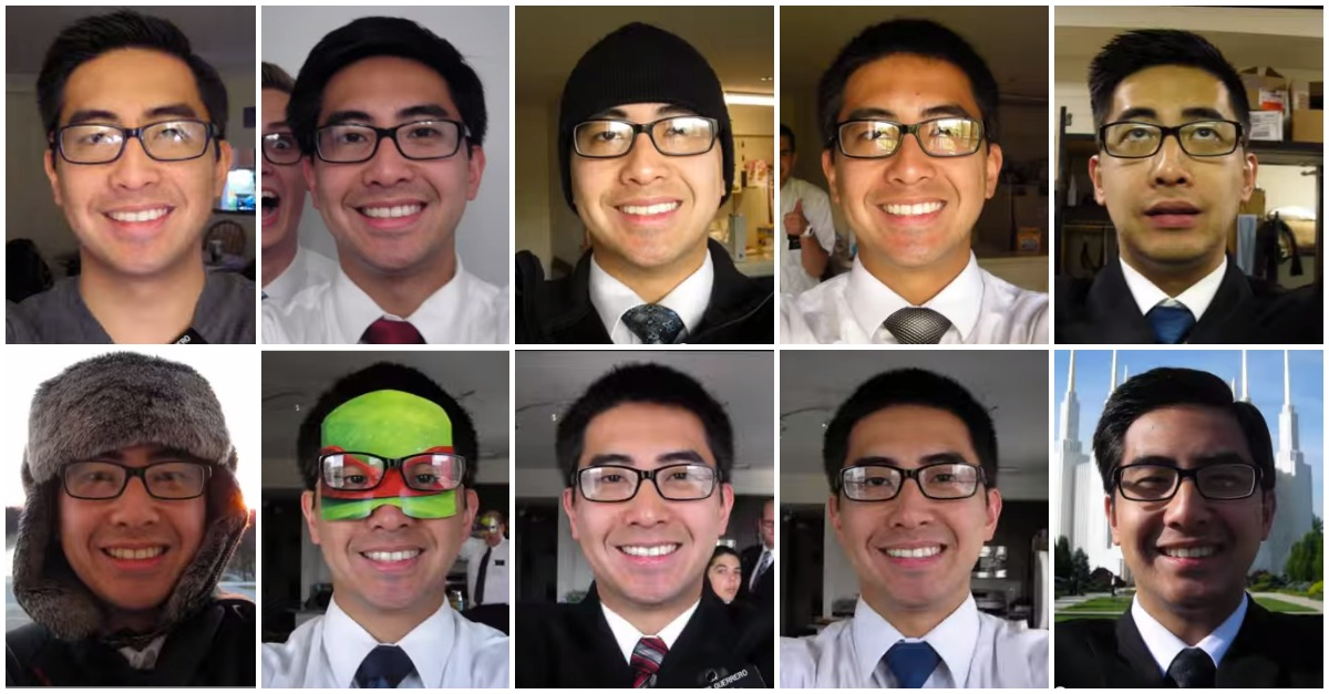 Missionary Takes Photo of Himself Everyday for 2 Years (Smiling) – Video