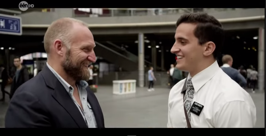 "Belgian-Dutch TV Host Who Only Says ""Yes"" Runs Into LDS Missionaries"