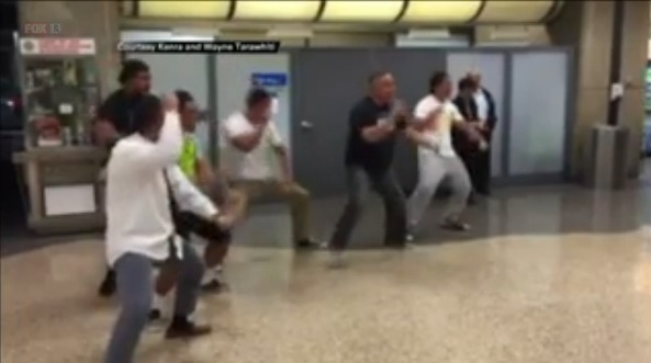 Missionary Welcomed Home at Airport with Polynesian Haka Dance (Video)