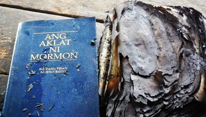 Book Of Mormon Untouchable in Fire, Family Gets Baptized