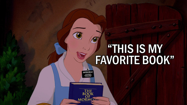 Belle Book of Mormon disney princess sister missionary