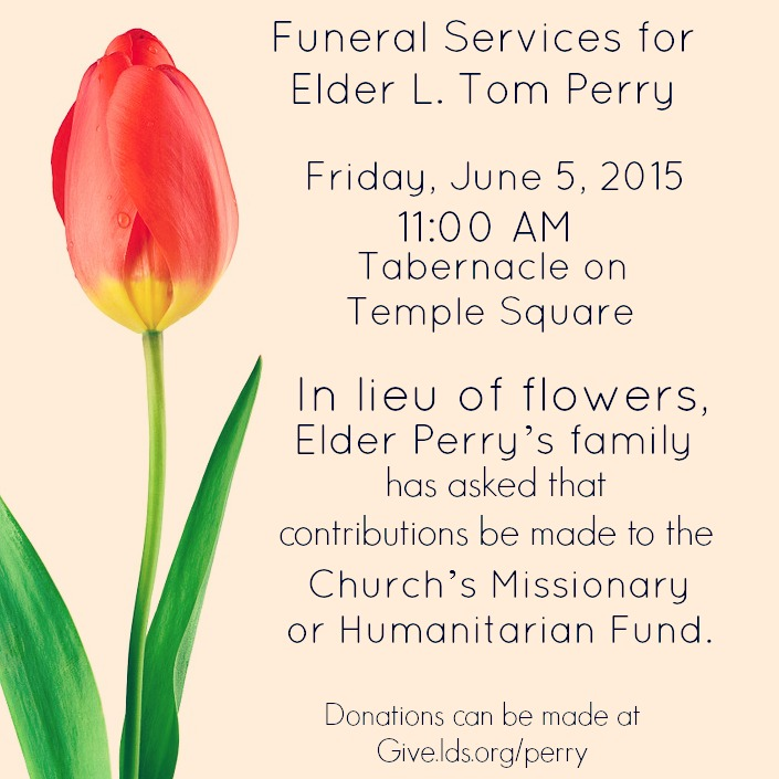 Elder L. Tom Perry Funeral