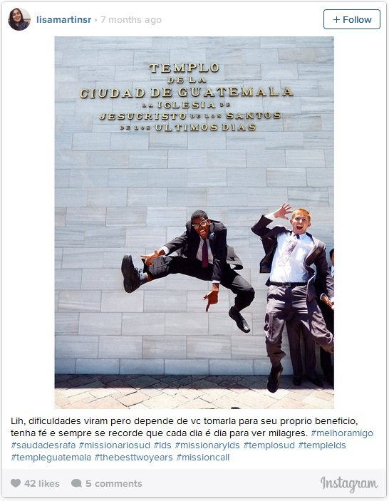 LDS Missionaries jumping for joy