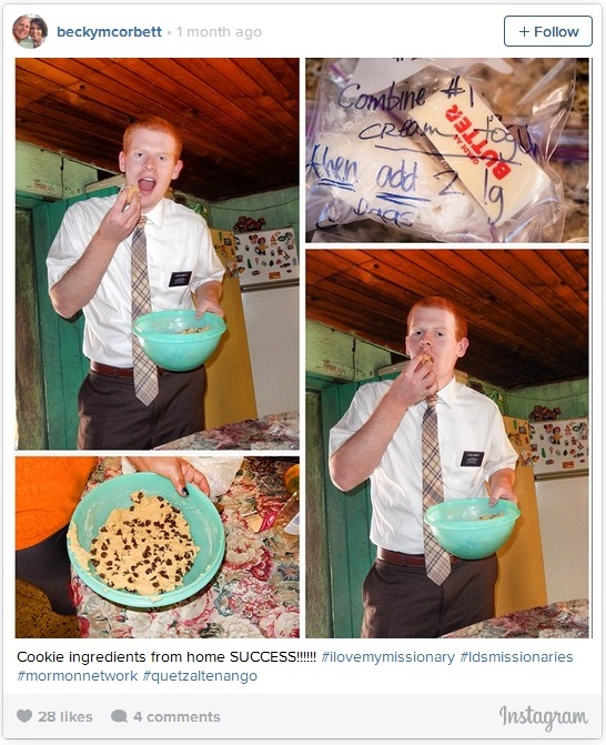 Fun LDS Mission Photos Mom sends cookie mix