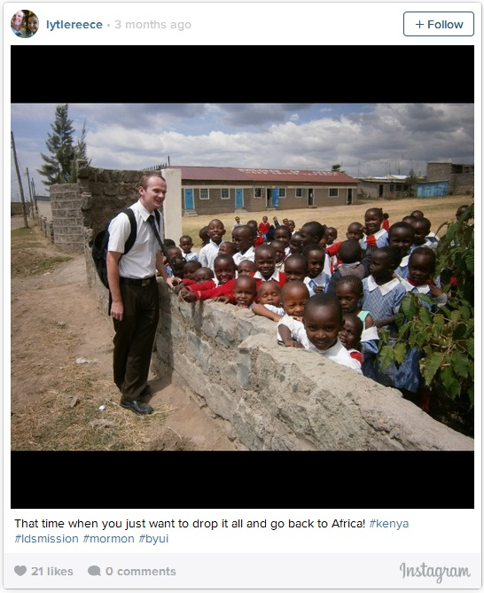 LDS missionary in Africa