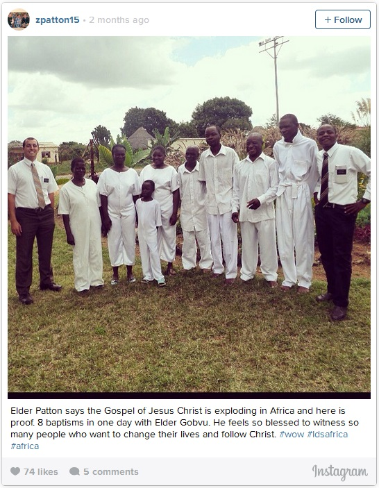 Mormon missionaries serving in Africa
