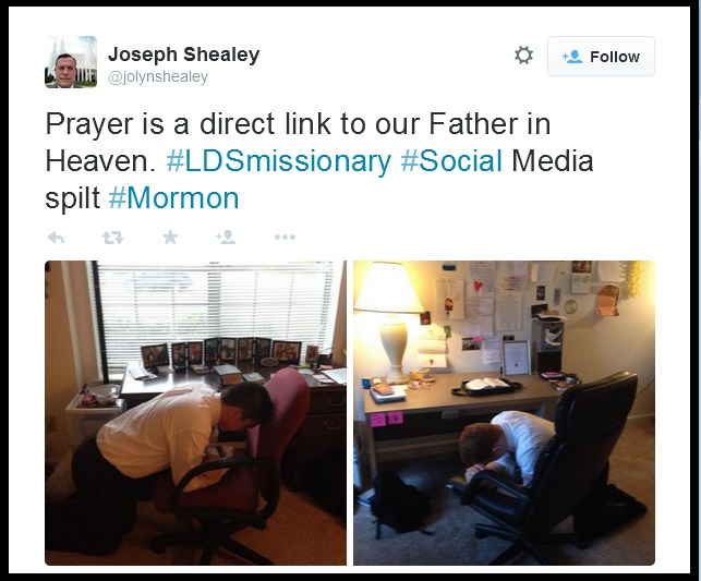 LDS mission posts on Twitter