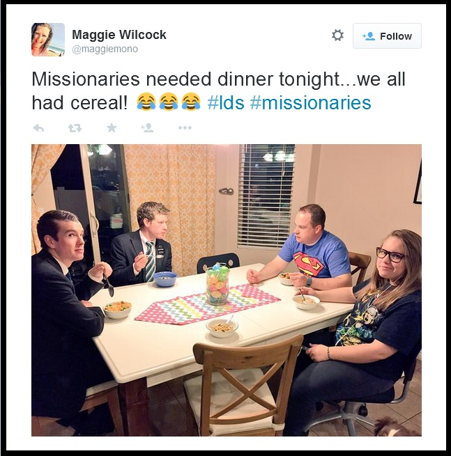 LDS missionary posts on Twitter