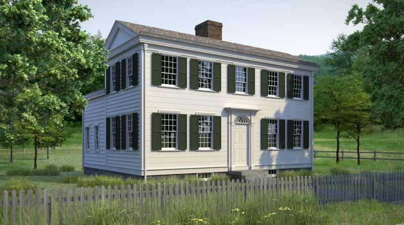 Artistic Rending of home of Emma's parents, Isaac and Elizabeth Hale.