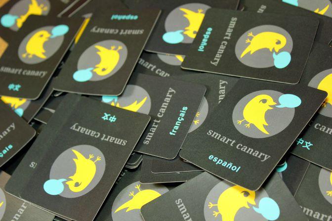 Smart Canary Language Card Came Kickstarter