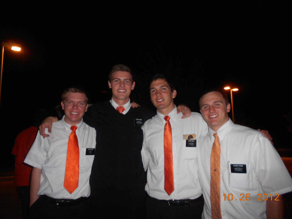 A fun, simple costume for Elders- orange ties :) via elderdallenthomas.wordpress.com