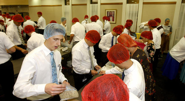 MTC missionaries spend Thanksgiving preparing 350,000 meal packs