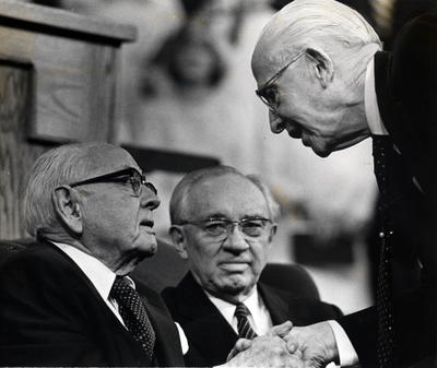 "President Ezra Taft Benson Aug. 4, 1899 - May 30, 1994  During the Saturday morning session of the October 1989 general conference, President Thomas S. Monson, who was the second counselor in the First Presidency at the time, read President Ezra Taft Benson's address titled ""To the Elderly in the Church.""   ""God bless the elderly in the church. I love you with all my heart. I am one of you.   ""You have so much to live for. May these golden years be your very best years as you fully live and love and serve. And God bless those who minister to your needs — your family, your friends and your fellow Church members and leaders.""  Click here to read ""To the Elderly in the Church."""