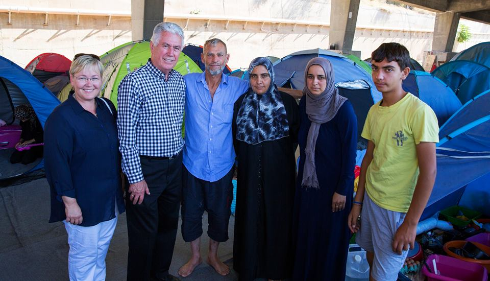 President Uchtdorf Visits Refugees in Greece, Donates $3 Million from Church