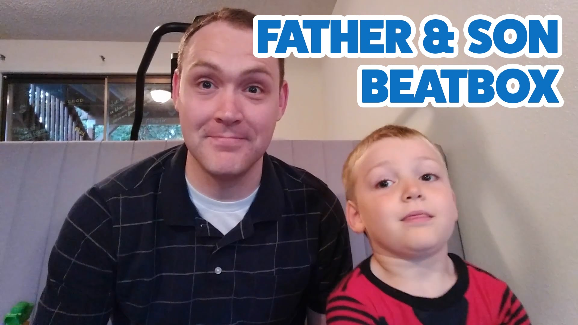 5 Year Old Beatboxes in Primary Song Duet with Dad