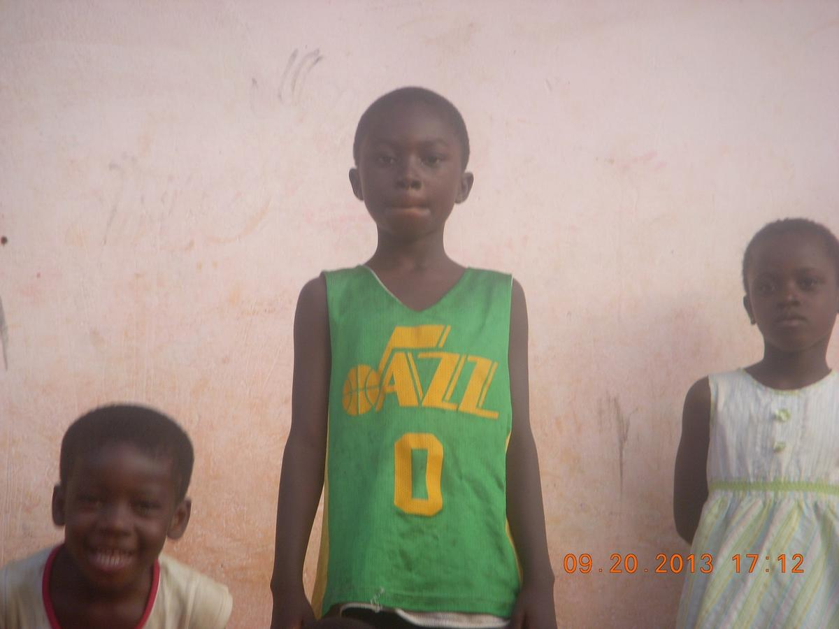 LDS missionary finds his own Jr. Jazz jersey while serving in Africa