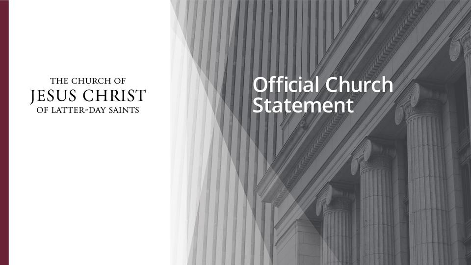 Church Statement About Alleged Sexual Assault by Former Mission President