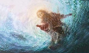Jesus reaching in to help us when were drowning