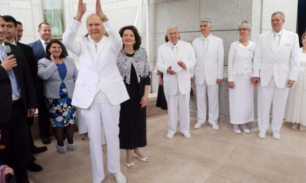 President Nelson refers to apostles Peter, Paul during Rome Temple dedication