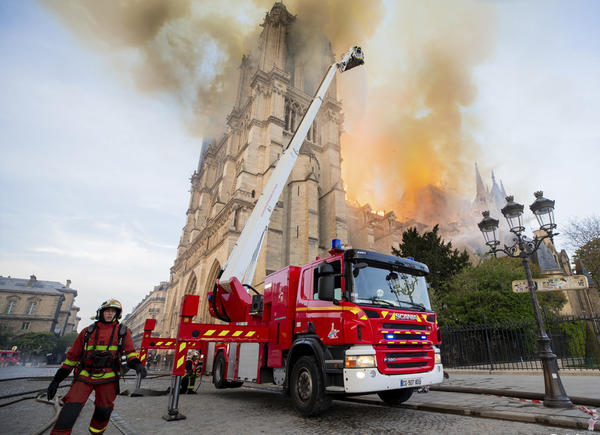 Notre Dame's treasures spared blaze after frantic rescue