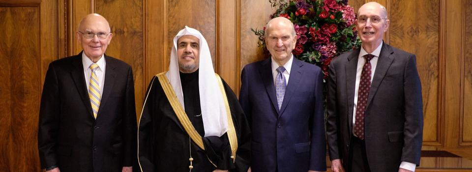 First Presidency Welcomes Leader of Muslim World League