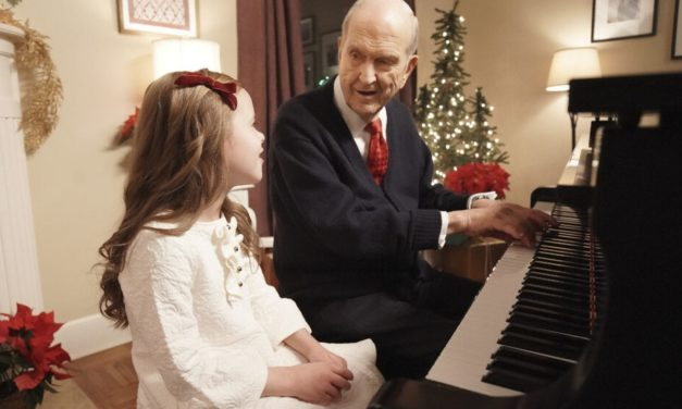 Watch this music video of President Nelson and Claire Crosby performing 'Silent Night'