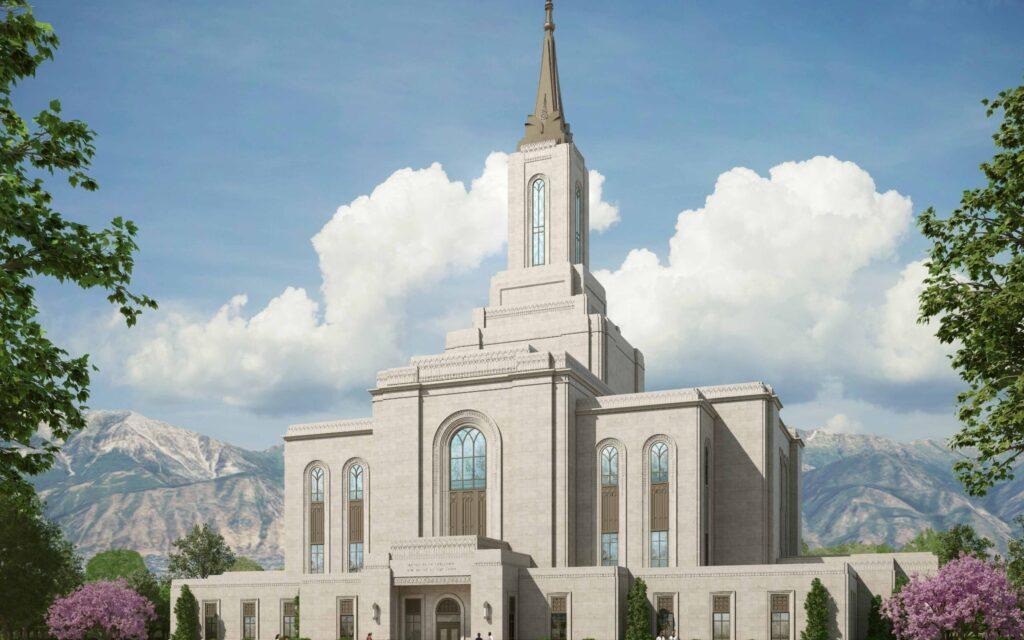 Orem Utah Temple groundbreaking date, rendering released